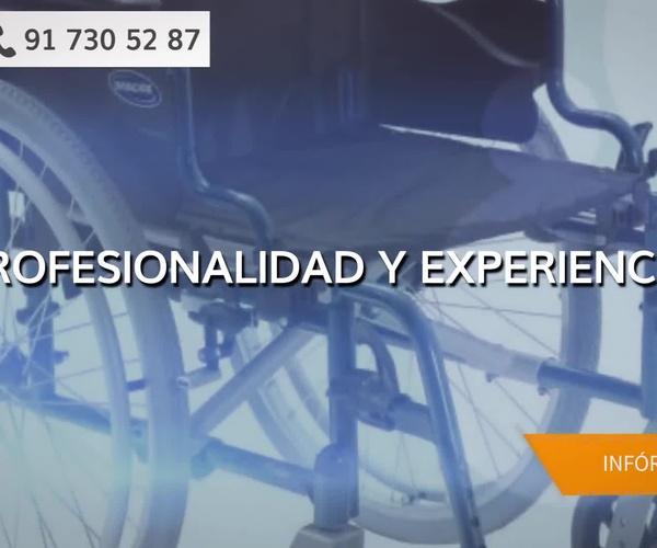 Alquiler de sillas de ruedas en el barrio del Pilar Madrid