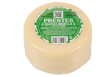 Mestura de queixo de vaca e cabra