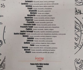 Platos especiales: Carta restaurantes   de Teletrusco