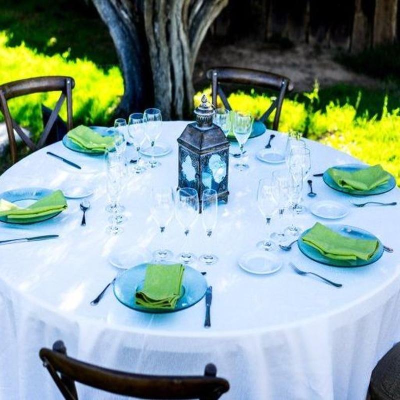 Alquiler de mesas para eventos y hosteleria: Alquiler de Mantelería & Menaje