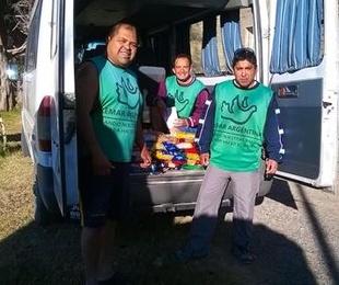 Remar ONG reparte más de 100kg de comida a familias necesitadas en Rio negro