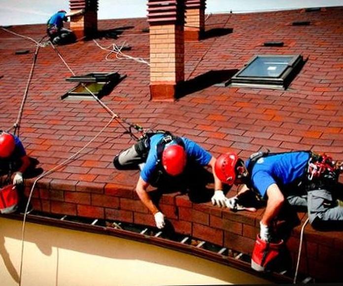 Mantenimiento tejadis y canalones en comunidades de vecinos