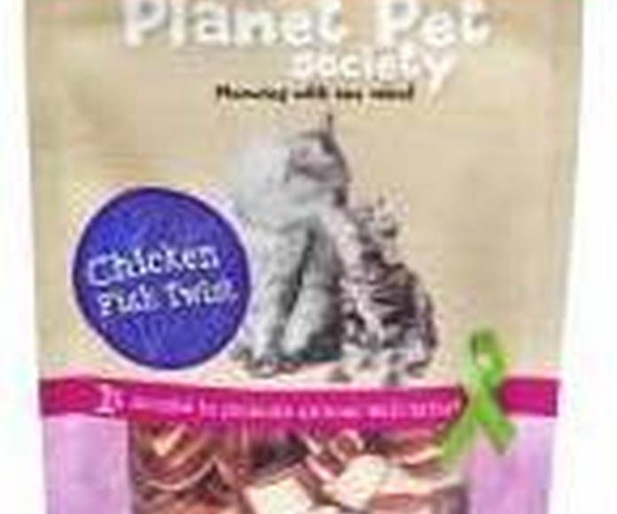 Planet Pet Snacks para gato semi húmedo de sabroso pollo y atún a trozitos