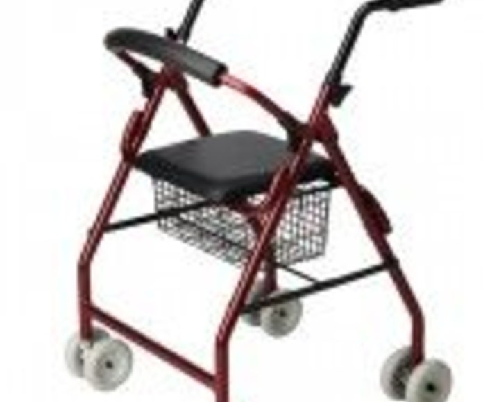 Andador de aluminio 4 ruedas