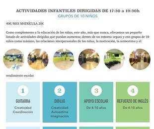 ACTIVIDADES DIRIGIDAS DE 17:30-19:30