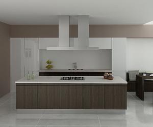 Muebles de cocina en madera estilo moderno modelo Nieves nogal
