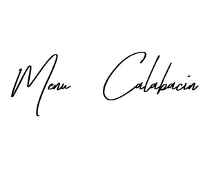 Menú Calabacín
