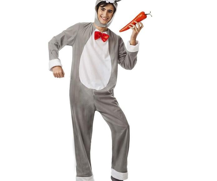 Disfraz conejo gris