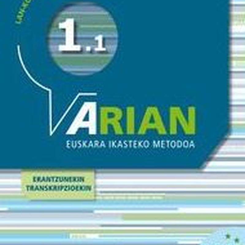 Arian A1.1. Lan-koadernoa eta erantzunak. ISBN  9788490271322