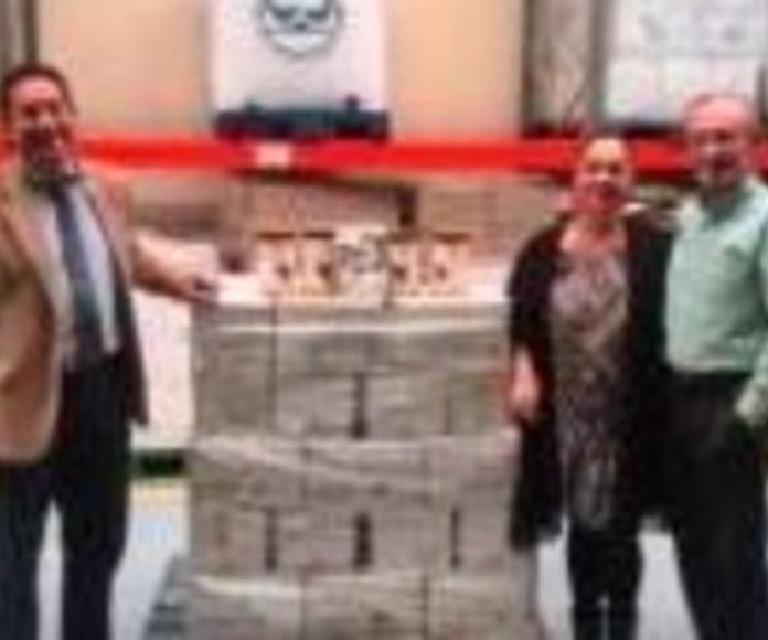 250 kilos de cacao en polvo llegan al Banco de Alimentos de Valladolid desde Viana de Cega