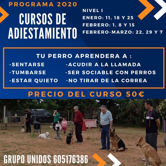 CURSOS DE ADIESTRAMIENTO 2020: Servicios de Centro Canino Unidos