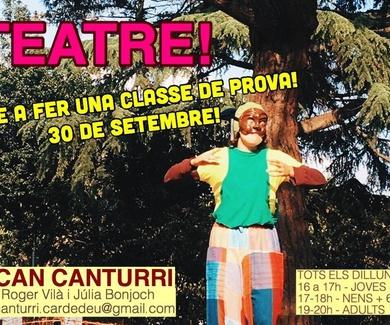 escola d'expressió teatral et convida a les seves classes obertes de teatre