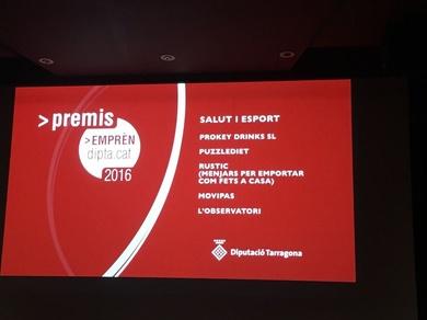 Premio de reconocimiento al proyecto empresarial de la diputación de Tarragona