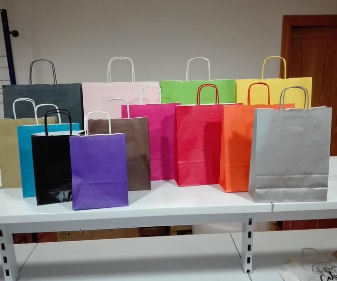 Modelo Clásico colores sobre celulosa blanco : Productos de Bolsagrafic