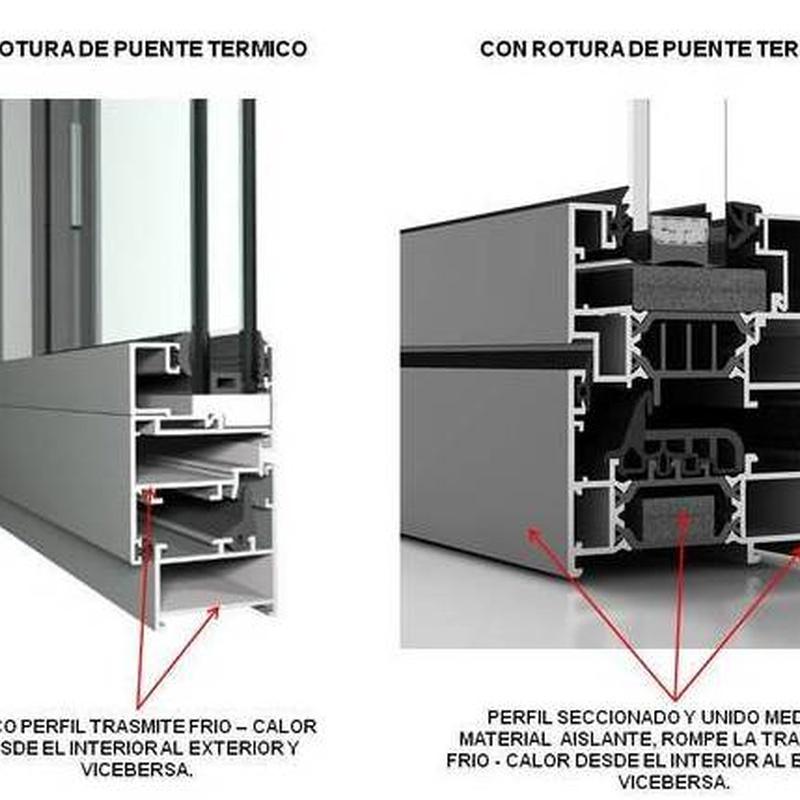 Ventanas y contraventanas, puertas elevables osciloparaleles, replegables.:  de Cerrajería Vefergal