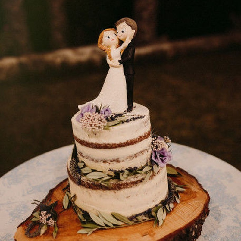 tarta de boda rustica
