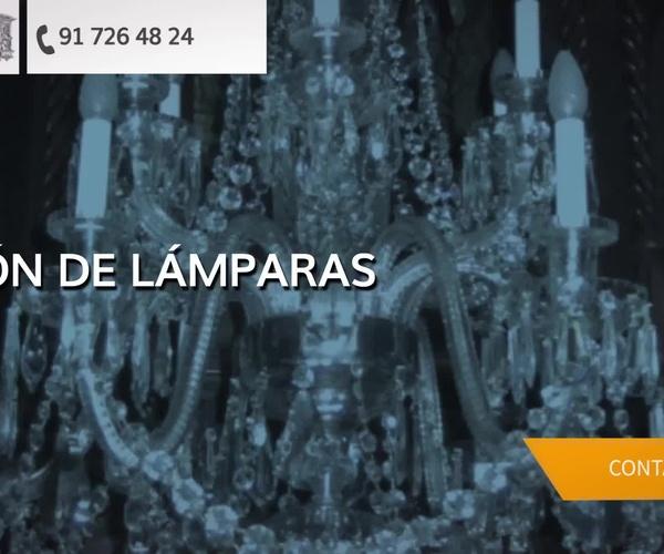 Restauración de lámparas en Madrid | Restauración de Lámparas y Arañas