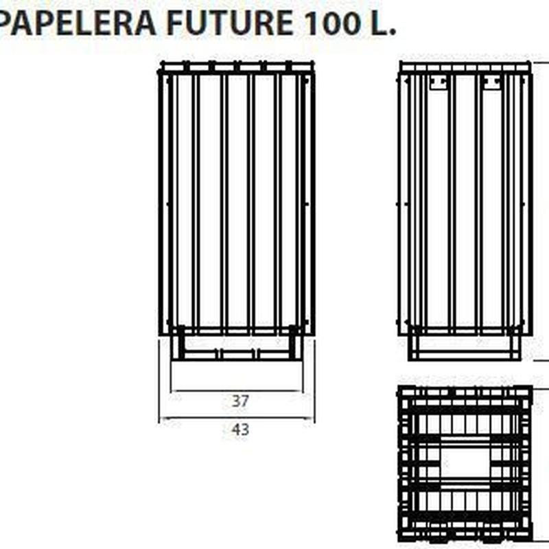 Papelera future 80l: ¿Qué podemos ofrecerte? de CM PLASTIK RECYCLING SL