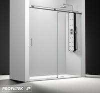 Mampara de baño Profiltek corredera serie Steel modelo ST-210 Classic