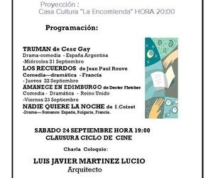 Ciclo de Cine y Arquitectura en La Encomienda. Charla Coloquio Sábado 24 Septiembre a las 19:00