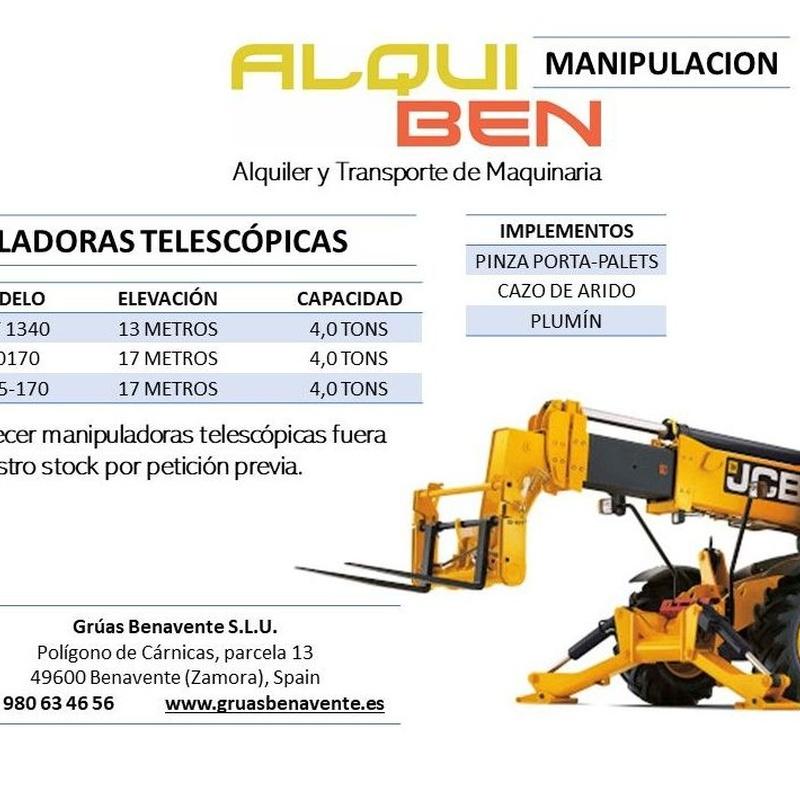 Manipuladoras Telescópicas: servicios de Grúas Benavente