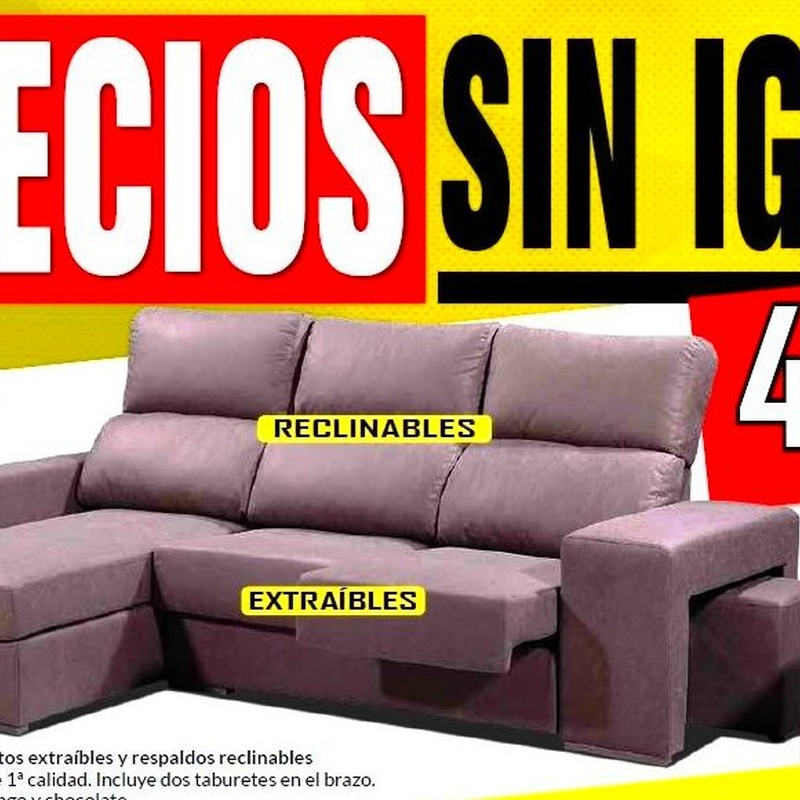 Sofá chaiselongue Lirio
