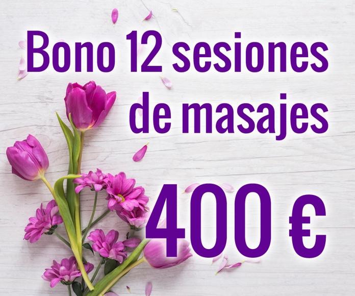 Bono 12 sesiones de masajes