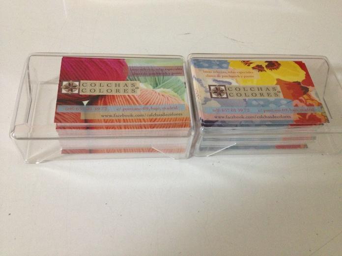 tarjetas de visita en color