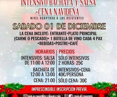CONVIVENCIA NAVIDEÑA + CENA + INTENSIVOS BAILALO MADRID 2018