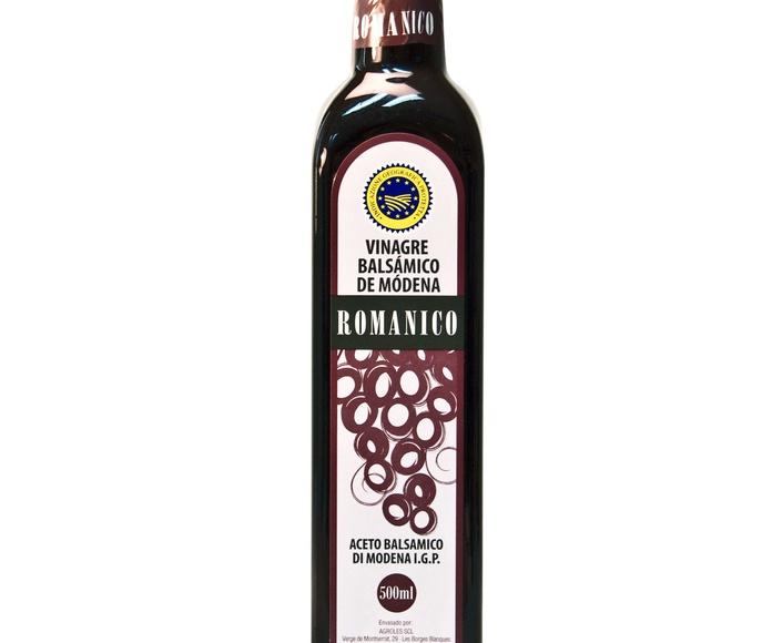 Vinagre Bálsamico de Módena Botella de 500 Ml. Marca ROMANICO