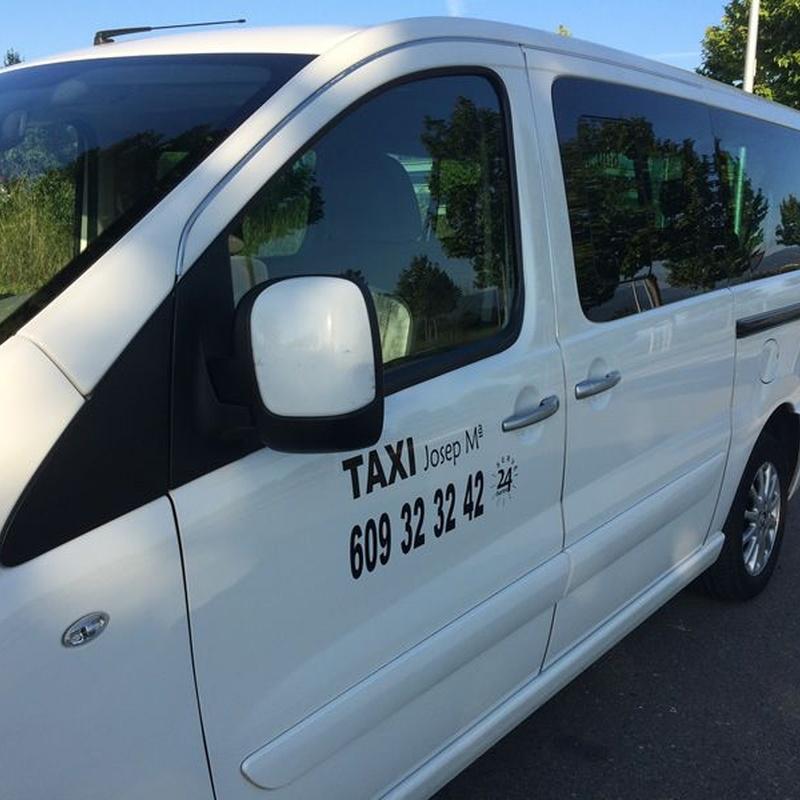 Aeropuertos y puertos del territorio nacional: Servicios de Taxi Josep María