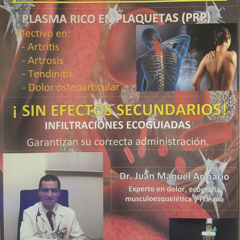 Infiltraciones de Plasma Rico en Plaquetas