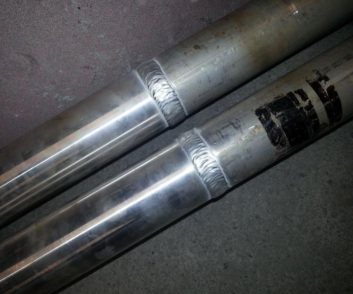 barras de aluminio recargadas