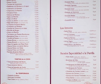 Los arroces: Carta de Restaurante San Babilés