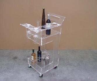 Estantería con separador expositor de Vinos.: Catálogo de A. Dumont-Fredo