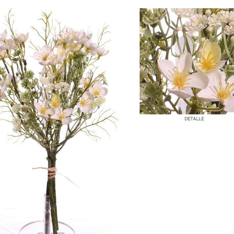 ATADO MINI FLOWER (40CM)/ BLANCO REF: 7109_BLA PRECIO: 10,80€/PQTE (A 0,90€/UD)