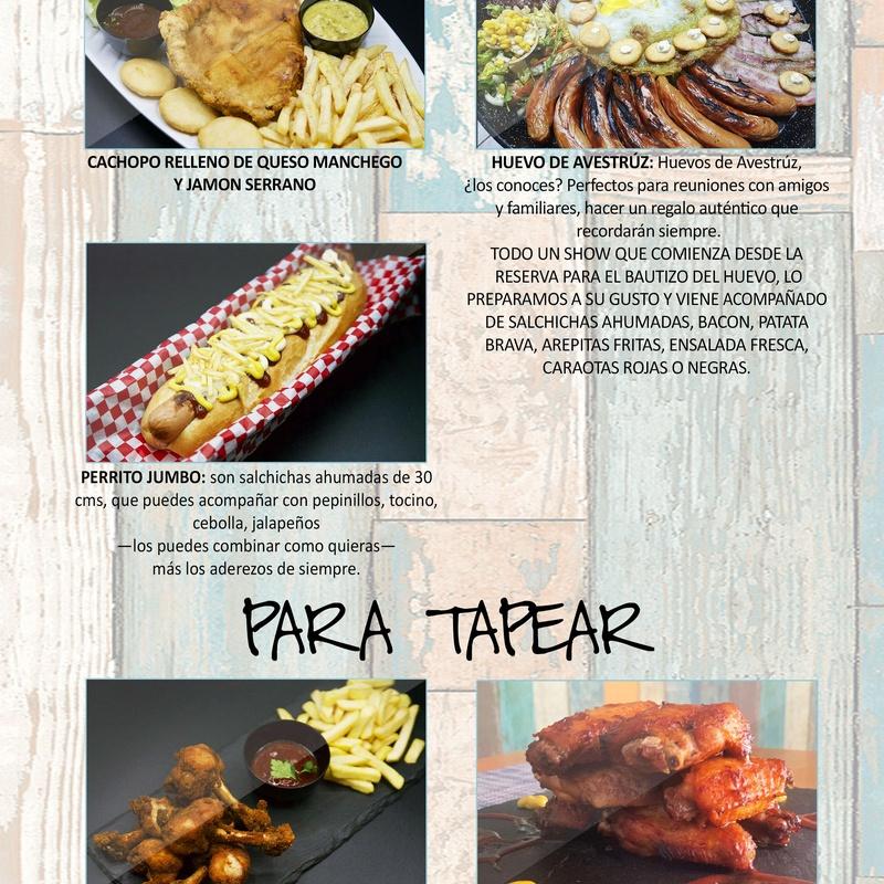 XXL: Carta de Restaurante Pal-buche