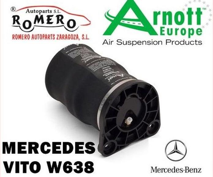 Balona trasera Mercedes Vito V-Class W638: Suspensiones y vehículos de Romero Autoparts Zaragoza