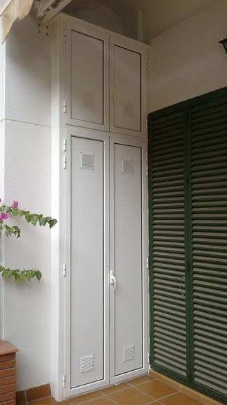 Muebles de aluminio en el exterior