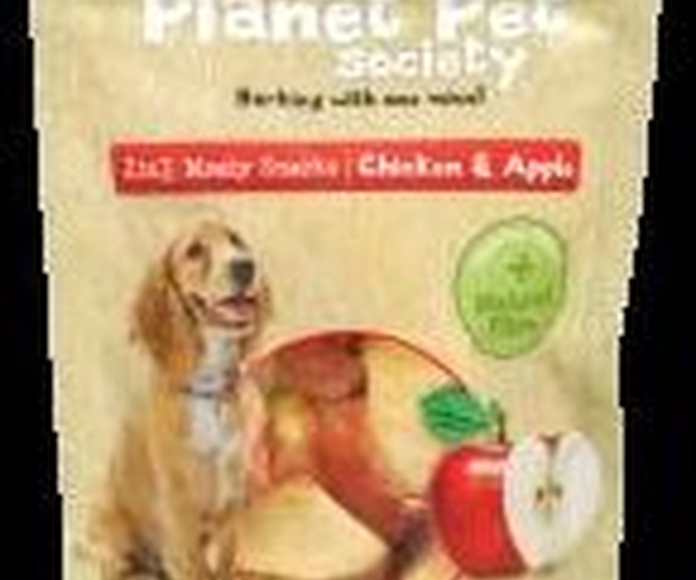 Planet Pet deliciosos snacks de manzana y pollo bolsa de 70 gr