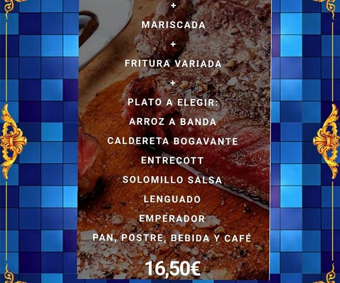 Menú de fin de semana: Nuestros Menús de La Freiduría Andaluza