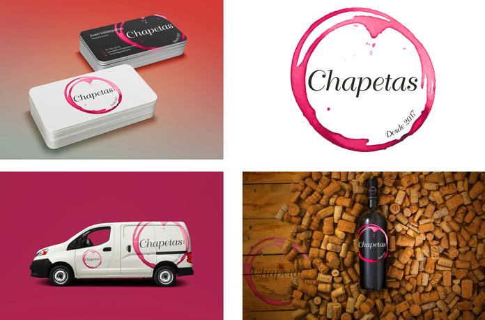 Trabajo de imagen corporativa virtual para empresa de vinos