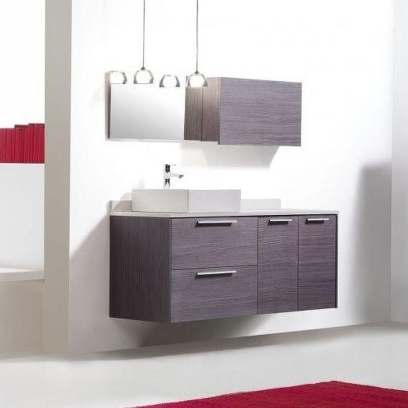 Mueble de baño Vidrebany colección Easy modelo Chapado