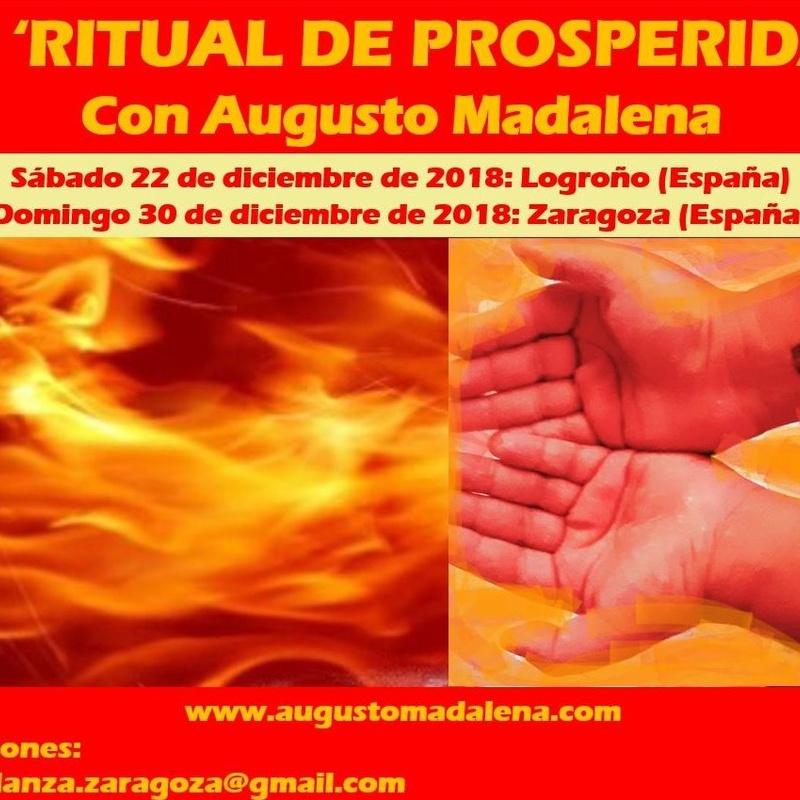Ritual de Prosperidad, con Augusto Madalena. 13ª edición. Diciembre 2018.