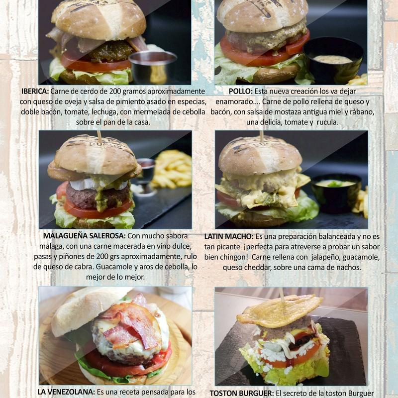 Hamburguesas: Carta de Restaurante Pal-buche