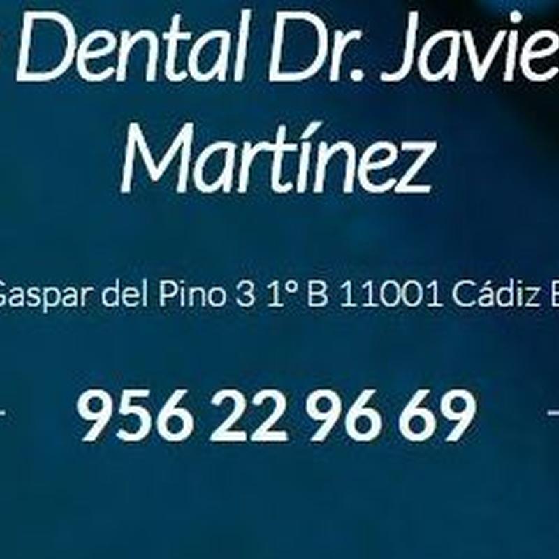Atención rápida: Servicios   de Clínica Dental Dr. Javier Pérez Martínez