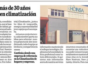 """Nota de prensa """"Airser Khoinsa, más de 30 años siendo referente en la climatización"""""""