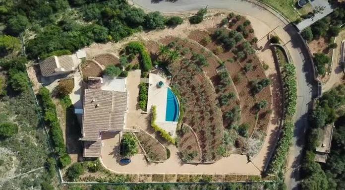 Vista aérea de esta magnifica propiedad en Puntiro