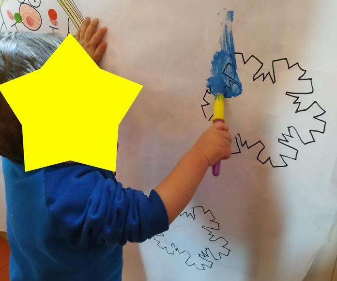 Pintamos con diferentes materiales