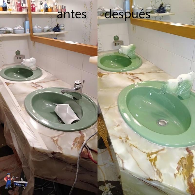 lavamanos con golpes y ralladuras
